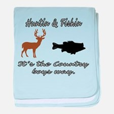 Hunting and Fishing baby blanket