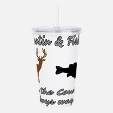Hunting and Fishing Acrylic Double-wall Tumbler