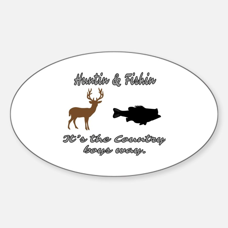 Country boy bumper stickers car stickers decals more for Hunting and fishing decals