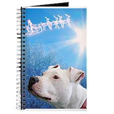 Cute Pit bull christmas Journal