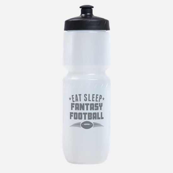 Eat Sleep Fantasy Football Sports Bottle