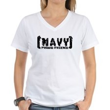 Proud NAVY Frnd - Tattered Style Shirt
