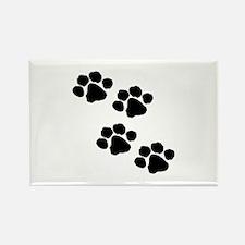 Pet Paw Prints Rectangle Magnet