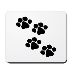 Pet Paw Prints Mousepad