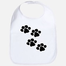 Pet Paw Prints Bib