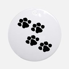 Pet Paw Prints Ornament (Round)