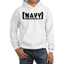 Proud NAVY FthrNlaw - Tattered Style Hoodie