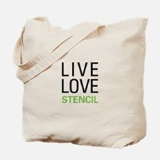 Live Love Stencil Tote Bag