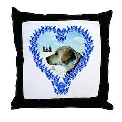Labrador Puppy Heart Throw Pillow