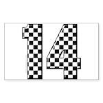 racing car #14 Rectangle Sticker