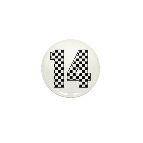 racing car #14 Mini Button