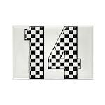 racing car #14 Rectangle Magnet