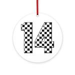 racing car #14 Ornament (Round)