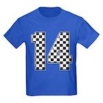 racing car #14 Kids Dark T-Shirt