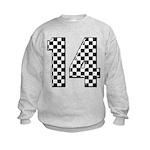 racing car #14 Kids Sweatshirt