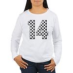 racing car #14 Women's Long Sleeve T-Shirt