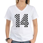 racing car #14 Women's V-Neck T-Shirt