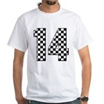 racing car #14 White T-Shirt