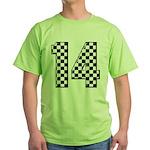 racing car #14 Green T-Shirt