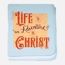 Adventure in Christ baby blanket