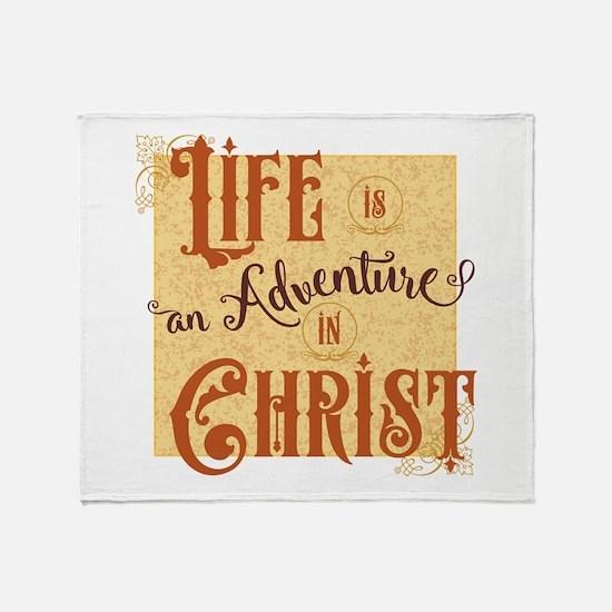 Adventure in Christ Throw Blanket