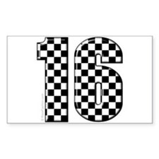 auto racing #16 Rectangle Decal