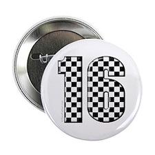 "auto racing #16 2.25"" Button"