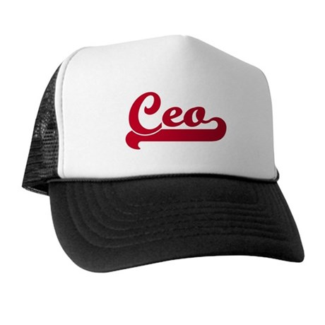 Ceo (sporty red) Trucker Hat