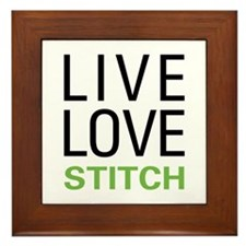 Live Love Stitch Framed Tile