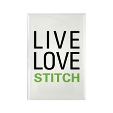 Live Love Stitch Rectangle Magnet