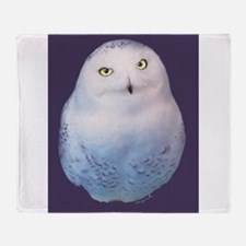 Snowy owl Throw Blanket
