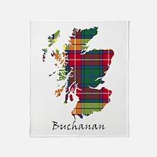 Map - Buchanan Throw Blanket