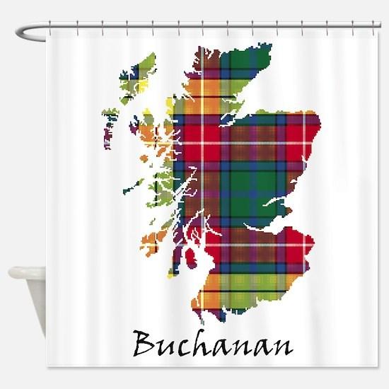 Map - Buchanan Shower Curtain