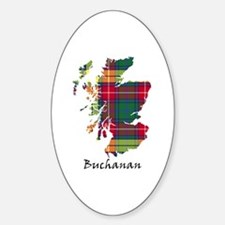 Map - Buchanan Sticker (Oval)