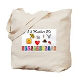 I\'d rather be scrapbooking Canvas Bags