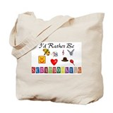 I\'d rather be scrapbooking Totes & Shopping Bags