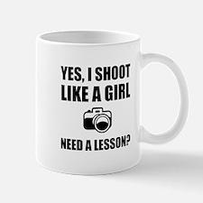 Like A Girl Photography Shoot Mugs