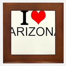 I Love Arizona Framed Tile