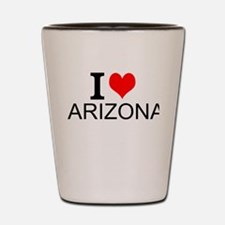 I Love Arizona Shot Glass