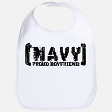 Proud NAVY BF - Tattered Style Bib