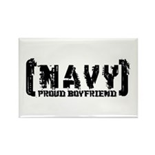 Proud NAVY BF - Tattered Style Rectangle Magnet