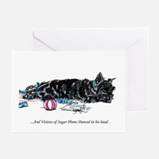 Scottish Terrier Puppy Vision Greeting Cards (Pk o