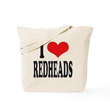 I Love Redheads Tote Bag