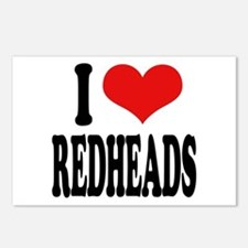 I Love Redheads Postcards (Package of 8)