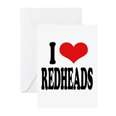 I Love Redheads Greeting Cards (Pk of 10)