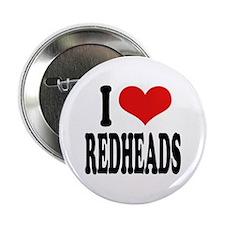 "I Love Redheads 2.25"" Button"