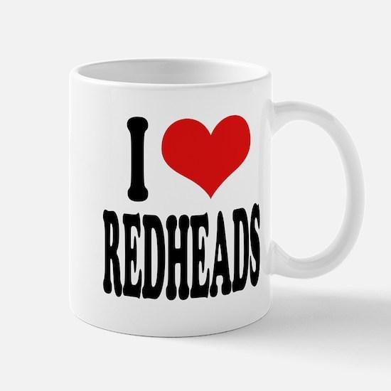 I Love Redheads Mug