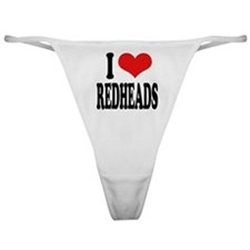 I Love Redheads Classic Thong