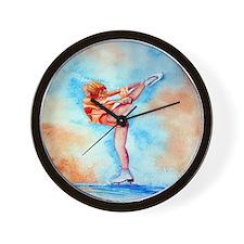 Peaches & Cream Ice Skate Wall Clock