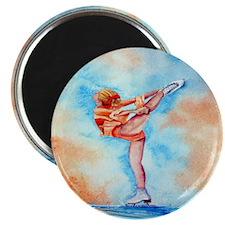Peaches & Cream Ice Skate Magnet